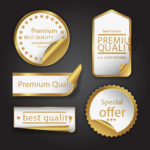 special offer stickers and badges design print